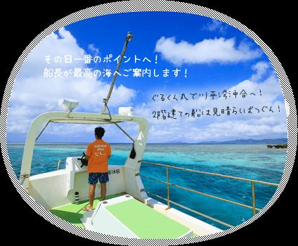 石垣島・川平湾のサンゴやお魚ウミガメが見れる